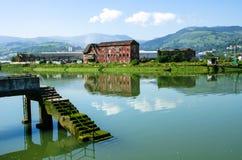Fiume di Bilbao Fotografie Stock