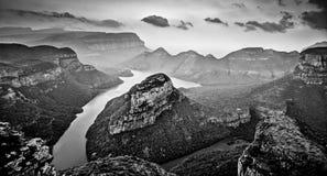 Fiume di Blyde in bianco e nero Fotografia Stock