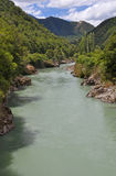 Fiume di Buller - Murchison, Nuova Zelanda Immagine Stock