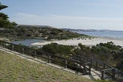 Fiume di Bungala, spiaggia di Normanville, Australia Meridionale fotografia stock libera da diritti