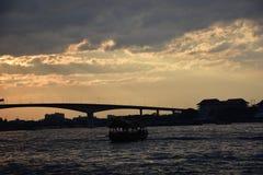 Fiume di Chao Phraya Fotografia Stock