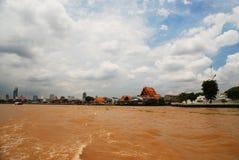 Fiume di Chao Phraya a Bangkok immagine stock libera da diritti