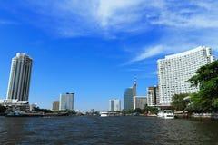 Fiume di Chaopraya a Bangkok Immagine Stock Libera da Diritti