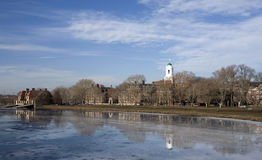 Fiume di Charles Cambridge Massachusetts Fotografia Stock