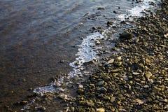 Fiume di congelamento Fotografie Stock