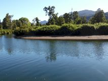 Fiume di Cua Cua nel sud di Chil fotografie stock libere da diritti