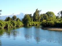 Fiume di Cua Cua nel sud del Cile fotografia stock