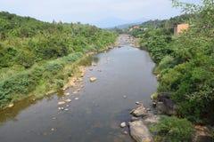 Fiume di Dai Quay nel periodo di siccità nella provincia di Lam Dong, Vietnam Fotografie Stock Libere da Diritti