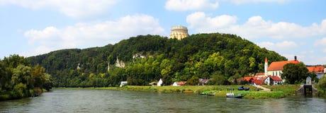 Fiume di Danubio in Kelheim Immagini Stock Libere da Diritti