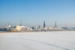Fiume di Daugava a Riga Fotografia Stock Libera da Diritti