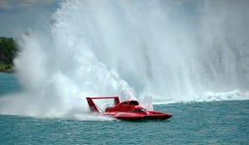 Fiume di Detroit della corsa del hydroplane della tazza dell'oro Immagini Stock Libere da Diritti