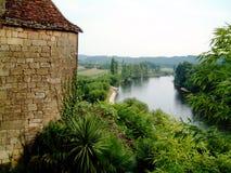Fiume di Dordogne Fotografia Stock