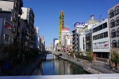 Fiume di Dotonbori, Osaka, Giappone Fotografia Stock