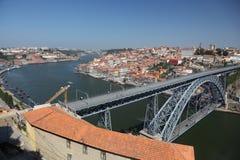 Fiume di Douro a Oporto, Portogallo Immagine Stock Libera da Diritti