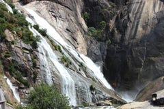 Fiume di Ezaro waterfal Sea Rocce paesaggio Fotografia Stock Libera da Diritti