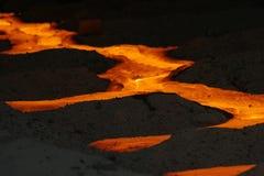 Fiume di fuoco Fotografie Stock