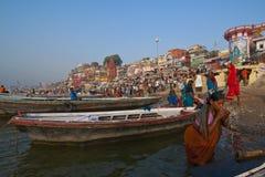 Fiume di Ganga Fotografie Stock
