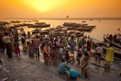 Fiume di Ganga Immagini Stock