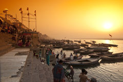 Fiume di Ganga Fotografia Stock