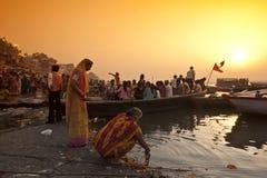 Fiume di Ganga Fotografie Stock Libere da Diritti