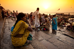 Fiume di Ganga Fotografia Stock Libera da Diritti