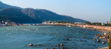 Fiume di Ganges santo Immagine Stock Libera da Diritti