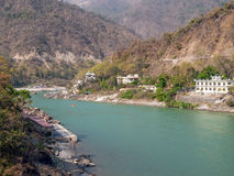 Fiume di Ganges santo Immagine Stock