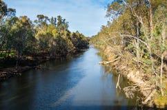 Fiume di Goulburn in Shepparton, Australia Fotografia Stock