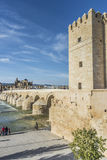 Fiume di Guadalquivir a Cordova, Andalusia, Spagna Fotografia Stock Libera da Diritti