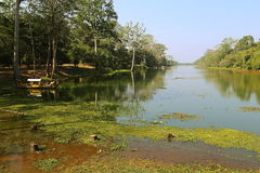 Fiume di guerra di Angkor fotografia stock