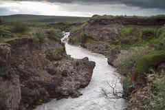 Fiume di Hvita, Islanda fotografie stock libere da diritti