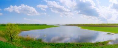 Fiume di inondazione della sorgente Immagini Stock Libere da Diritti