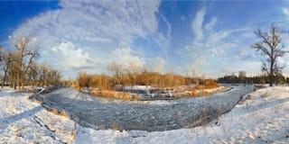 Fiume di inverno Fotografia Stock Libera da Diritti