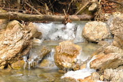 Fiume di inverno fotografie stock libere da diritti