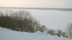 Fiume di inverno video d archivio
