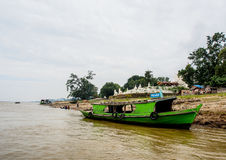 Fiume di Irrawaddi a Mandalay, Myanmar Fotografie Stock Libere da Diritti