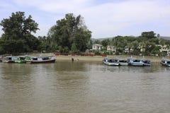 Fiume di Irrawaddy fotografia stock libera da diritti