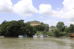 Fiume di Irrawaddy fotografie stock