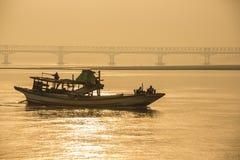 Fiume di Irrawaddy - Myanmar Fotografia Stock Libera da Diritti