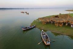 Fiume di Irrawaddy in myanmar fotografia stock libera da diritti
