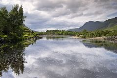 Fiume di Kinlochewe, Hig scozzese Fotografia Stock Libera da Diritti