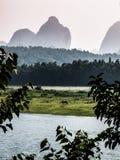 Fiume di Li e di Yangshuo Immagine Stock Libera da Diritti
