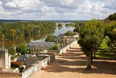 Fiume di Loire dal castello di Amboise Immagini Stock Libere da Diritti