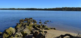 Fiume di Maroochy, costa del sole, Queensland, Australia fotografie stock libere da diritti