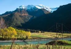 Fiume di Matukituki, Nuova Zelanda fotografia stock libera da diritti