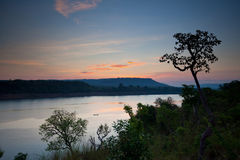 Fiume di Mekong Fotografia Stock