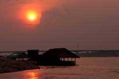 Fiume di Mekong, la Tailandia ed il Laos Fotografia Stock Libera da Diritti
