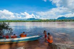 Fiume di Mekong, Luang Prabang, Laos Fotografia Stock Libera da Diritti