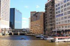 Fiume di Milwaukee Immagine Stock