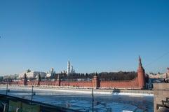 Fiume di Mosca Fotografie Stock Libere da Diritti